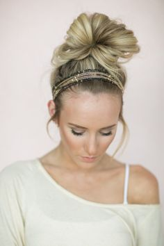 Bead Headband, Multi-Strand Head Wrap, Boho Hair Bands, Fashion Hair Accessories (HB-176) GORGEOUS head wraps, bead headband, boho hair, fashion hair, beads, hair band, hair accessories, boho head band, boho beaded headband