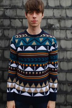 Bellfield Harlow brown Christmas jumper at ScaryCanary Clothing