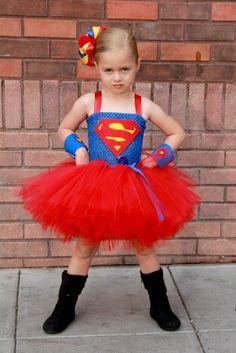Super girl superhero tutu dress and costume. $59.00, via Etsy.