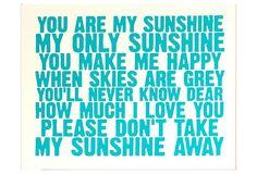 You Are My Sunshine, Blue on OneKingsLane.com
