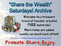 An Educator's Life: StW Saturdays Archive