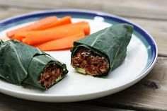 Easy sandwiches to take to work, via @Her Campus - pictured: veggie burger collard wrap. Ingredients include 1 collard green leaf (or a butter lettuce leaf), 1 veggie burger, 1 tbsp hummus, 1/4 of a sliced avocado, and diced tomatoes.