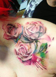 Pink Roses by Lianne Moule