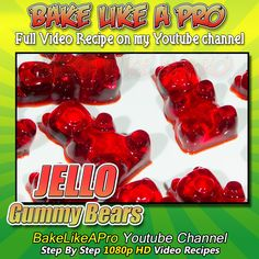 My easy JELLO Gummy Bears Recipe ! Please SUBSCRIBE: ► http://bit.ly/1ucapVH Easy yummy gummy bears made with Jell-O brand jello.  My Facebook Page: http://www.facebook.com/BakeLikeAPro My Twitter: http://twitter.com/BakeLikeAPro http://instagram.com/bakelikeapro Pinterest: http://www.pinterest.com/BakeLikeAPro  Please subscribe, like and share if you can, I do appreciate it. ►http://bit.ly/1ucapVH  #recipe #recipeshare #jello #kraft #gummybears #kraftfoods #candy