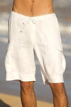 men's linen shorts - resort wear.@ elaine for the guys