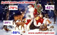 Reduceri si promotii pana la -70% in magazinele de jucarii pentru sacul Mosului Nicolae si Mosului Craciun, profita si tu cat sunt pe stoc! - http://www.outlet-copii.com/outlet-copii/jucarii-copii/reduceri-si-promotii-pana-la-70-in-magazinele-de-jucarii-pentru-sacul-mosului-nicolae-si-mosului-craciun-profita-si-tu-cat-sunt-pe-stoc/ - Dragi copii, sunteti pregatiti ca sa primiti cadourile de la Mos Nicolae si de la Mos Craciun? Suntem sigura ca ati mai facut cate o boroboata