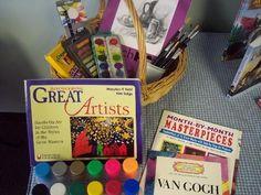 artists, learn center, learning centers, artist books, homeschool, artist studi, art supplies, artist learn, journey westward