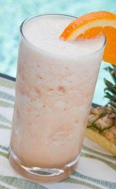 Rum Runner  Ingredients  1 oz. pineapple juice  1 oz. orange juice  1 oz. blackberry liqueur  1 oz. banana liqueur  1 oz. light rum  1 oz. dark (or aged) rum  splash of Grenadine  orange slice (garnish