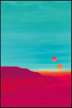 Aqua,orange, pink