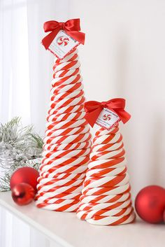 Peppermint Candy Cane Trees