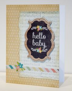 Chalkboard - Hello Baby card made with the Silhouette from Scrapbook Update