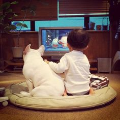 Tokyo-based mother Aya Sakai is taking pictures everyday of her son Tasuku and his best friend, a French Bulldog 'Muu' and post it on Instagram and her Facebook page. via Cyril Foiret, trendland #Photography #Aya_Sakai