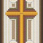 Log Cabin built Christian Cross - via @Craftsy