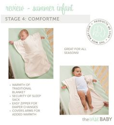Summer Infant swaddling line review, Stage 4: ComfortMe - perfect for growing children, provides the warmth of a traditional blanket!