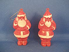 These two ornaments are from the oldest plastic ornaments that were made.  Both are in excellent condition.