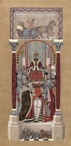 "Serge Ivanoff (1893-1983), ""Tsar Mikhail Fedorovich Romanov and his court "" by sofi01, via Flickr"