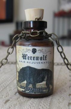 halloween potion, furs, silver trays, chains, ebay, werewolv, halloween apothecari, antiques, old halloween bottles