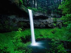 south falls in silver creek falls state park oregon