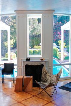 Holy swoon, a window over a fireplace! window, fireplac