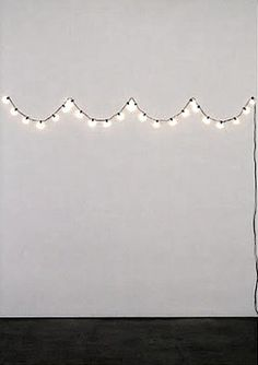 String lights in a scallop pattern
