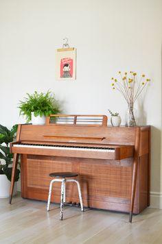 vintage midcentury piano