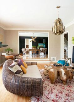 couch, boho chic interior, dream houses