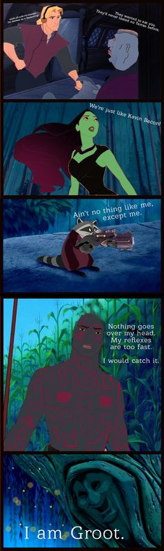 Pocahontas/Guardians of the Galaxy crossover- This is the best thing ever