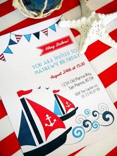 sailboat party invitations