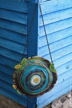 "Войлочная арт-сумка ""Дерево"". Handmade."