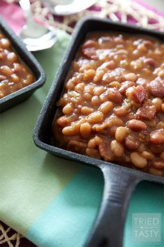 THE Best Slow Cooker Baked Beans