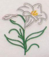Easter Lily Embroidery Design. lili embroideri, embroideri idea, easter embroideri, embroideri design, custom embroideri