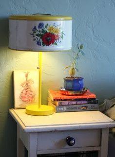 Repurpose: Vintage Tin = Lampshade