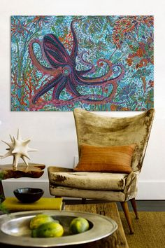 Octupus by Ebova  and I love that chair~
