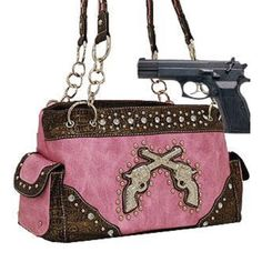 Pink Dual Six-Shooter Conceal and Carry Purse Sale Price: $59.99 + 10%off + Free Shipping www.handbagsblingmore.com