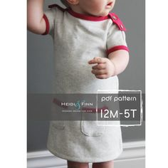PlayDay Dress PDF pattern and tutorial 12m5t EASY by heidiandfinn, $7.49