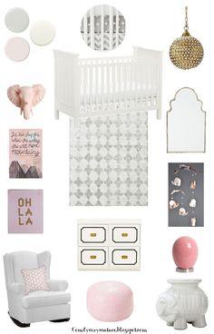 Nursery Design   Pink and Grey Nursery   Pink Nursery   Nursery Art