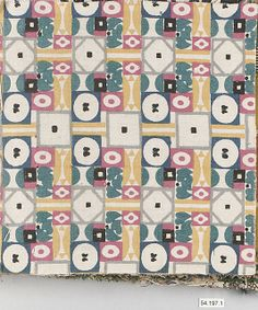 Various Unknown Designers  Manufacturer: Wiener Werkstätte Date: early 20th Century Culture: Austrian Medium: Cotton, silk, wool and linen Dimensions: H. 8-1/2, W. 9 to 14 inches (21.6 x 22.9 to 35.6 cm.) Classification: Textiles Credit Line: Rogers Fund, 1954