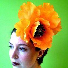 Orange Poppy... reminds me of Frida Kahlo.
