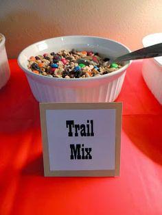 Carrie Dahlin: Cowgirl Birthday Fun! Chisholm Trail Mix