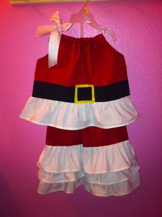 Custom Santa Outfit Ruffle Pants and Top by MiaEileen on Etsy, $55.00