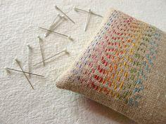 jordan, pincushions, pin cushion, rainbow, embroideri