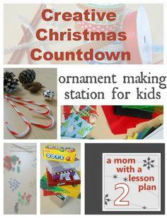 Homemade Christmas: ornament making station