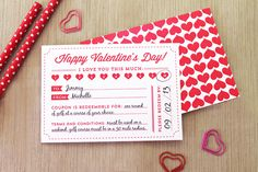 Valentine's Day Printable Coupon, free