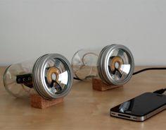 DIY Audio Jar iPhone speakers