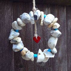Hag Stone Wreath, great idea to try with mine