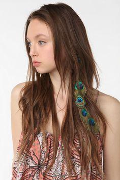 Feather drop headband