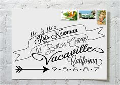 Dashingly Chic Calligraphy Envelope Addressing The by ilulily, $2.00