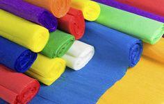 Cómo hacer figuras de papel crepé
