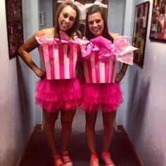 Victoria's Secret bags for Halloween costume!