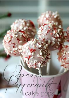 Chocolate Peppermint Cake Pops